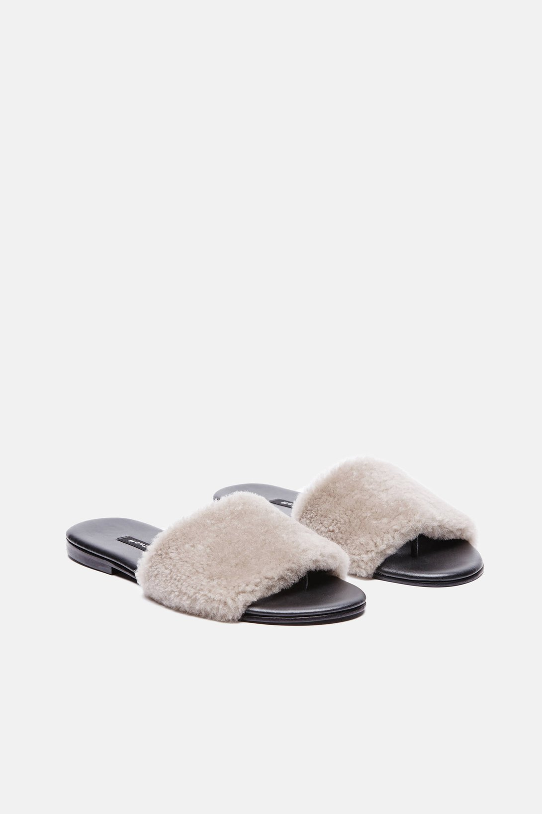 d5e4ecdbe42e Shop NewbarK Roma II Sandal in Taupe Shearling from The Best of NYC  Designer Sample Sale Women s Shoes Sample Sale