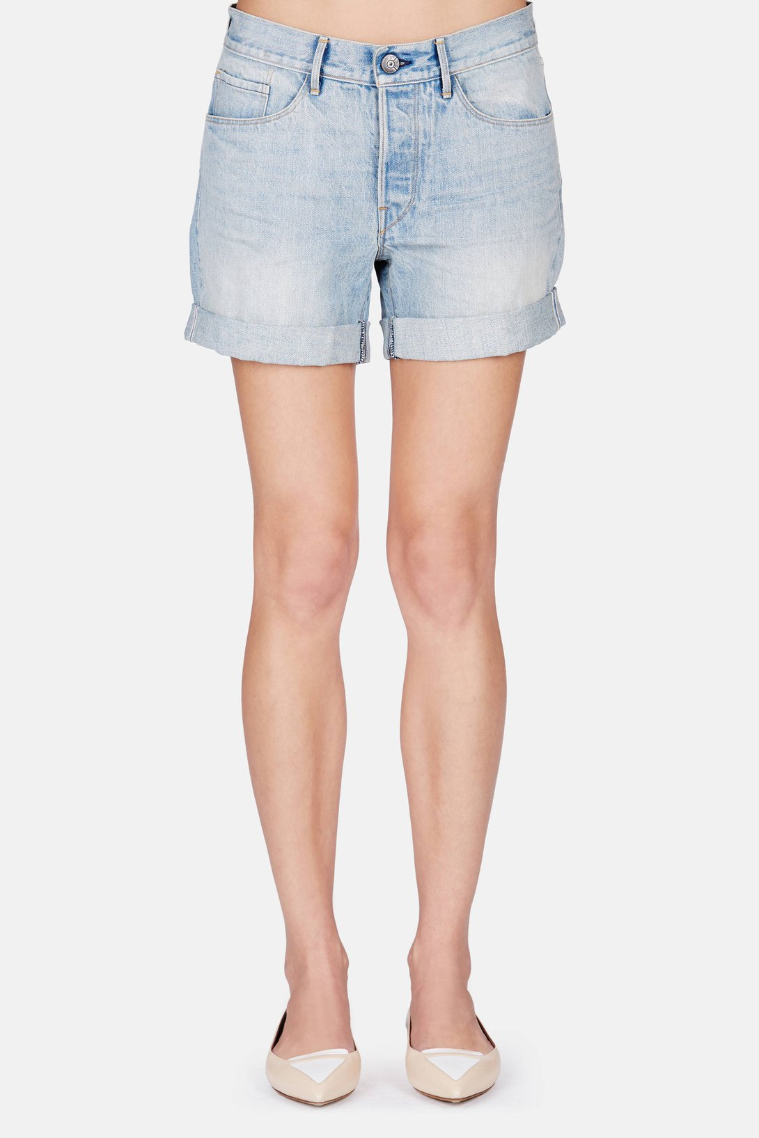 3fd63833179c Shop 3 x 1 Washed Boyfriend Short in Light Blue Vintage from The ...