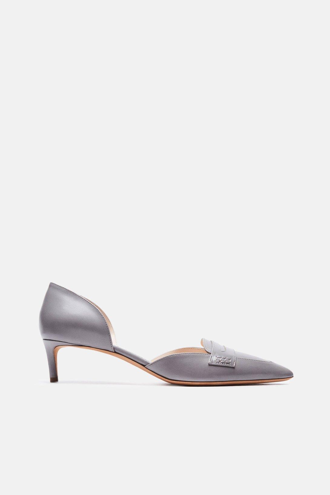 0db92296379 Shop Altuzarra Bancroft Kitten Heel in Charcoal from The Best of NYC Designer  Sample Sale Women s Shoes Sample Sale