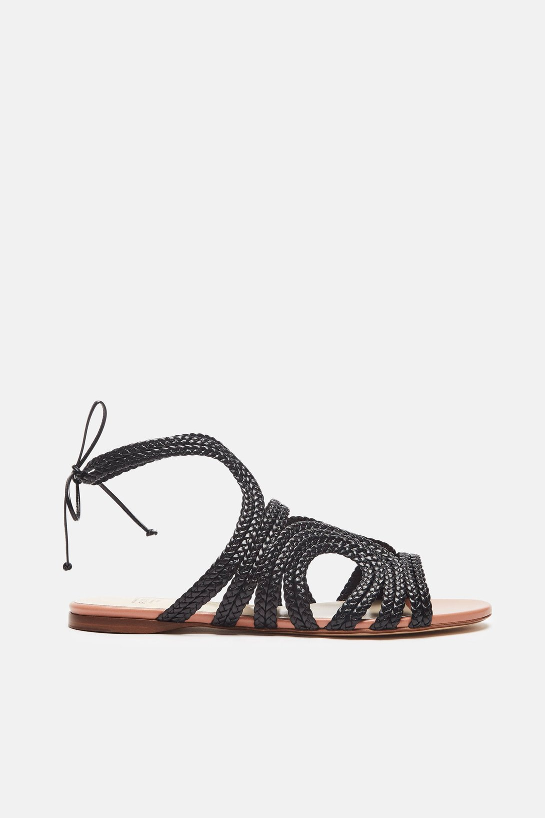 cb7c7fcb739 Shop Francesco Russo Flat Sandal in Black from The Best of NYC Designer  Sample Sale Women s Shoes Sample Sale