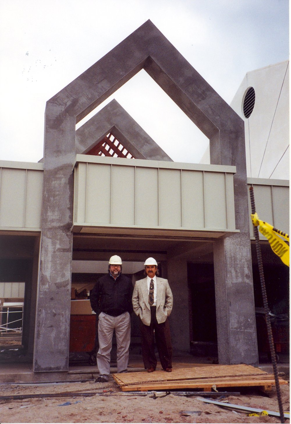 (1993) Founding Partners Mark Holley, AIA (left) and Robert Machado, AIA (right) at Brookside Elementary School - Lincoln Unified School District