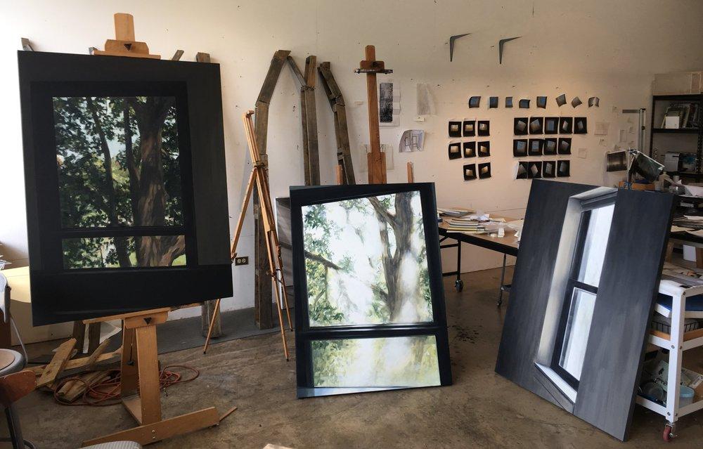 Lundin's studio in Wheaton, Illinois