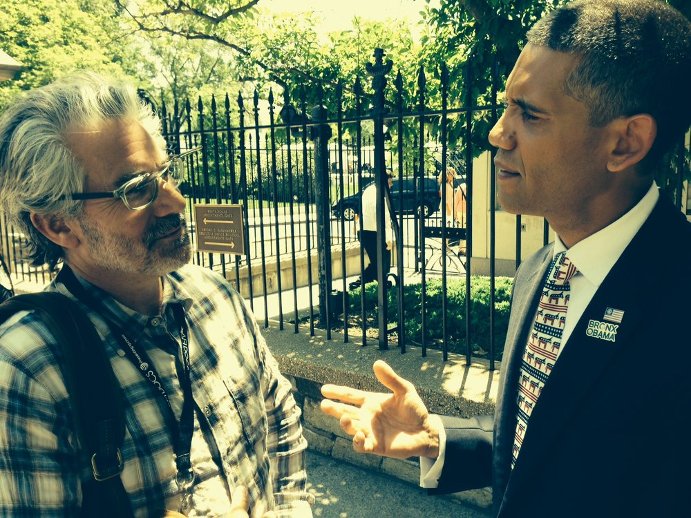 Director, Paul Lazarus, with The Bronx Obama