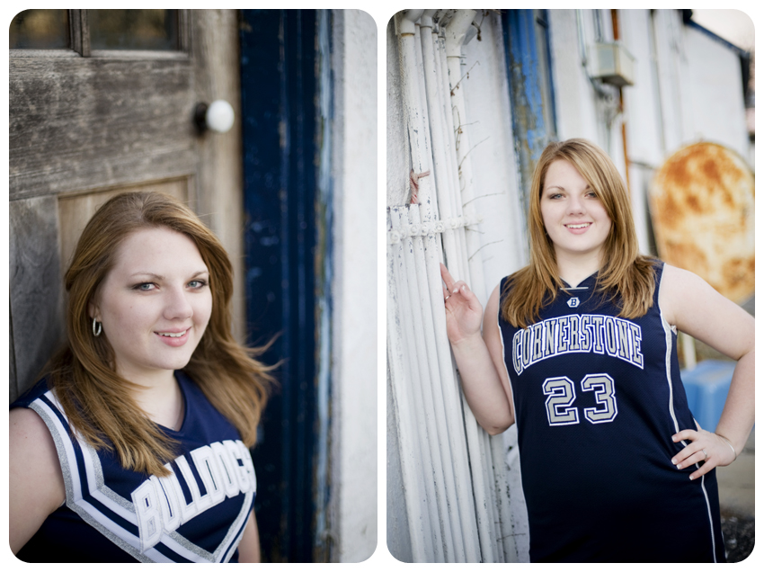 cornerstone christian basketball and cheerleading senior pictures