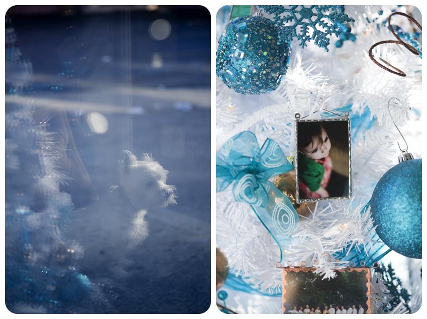 custom christmas photo ornaments westie dog