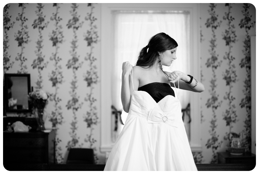 black bridesmaid dress holding wedding gown bodley-bullock house lexington, kentucky