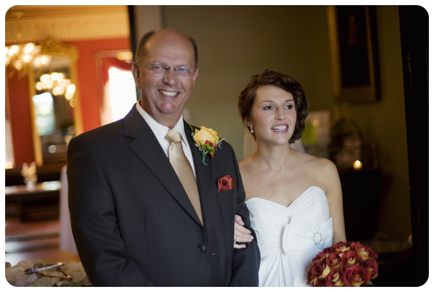 father of the bride with bride bodley-bullock house wedding
