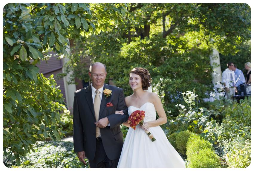 orange roses garden wedding lexington kentucky