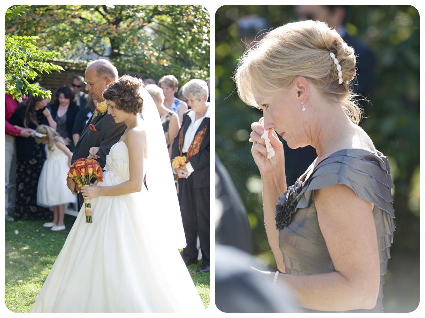 bodley-bullock house garden wedding bride with father
