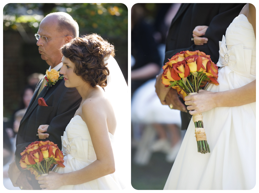 burnt orange roses fall kentucky wedding lexington, kentucky