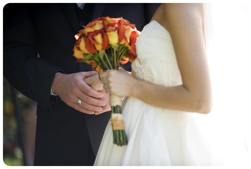 orange roses garden wedding cross ring lexington kentucky