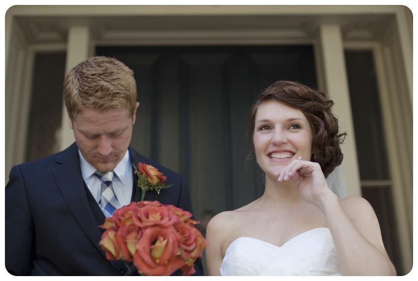 bodley-bullock house garden wedding bride and groom