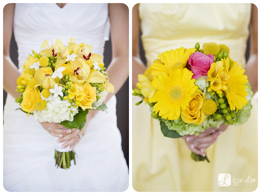 frazier arms museum wedding yellow flowers with pink accent billy balls louisville