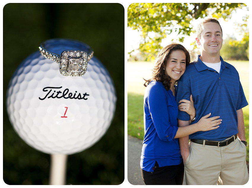 Griffin Gate Engagement Golf Course Golf Ball Ring