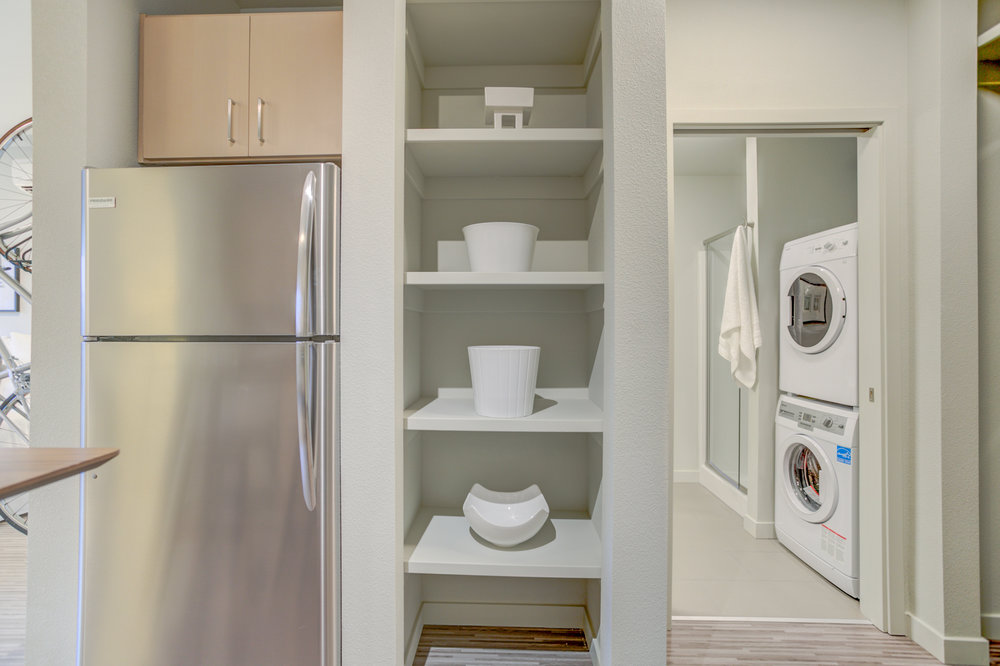 Built-in Storage & Exposed Shelving  -
