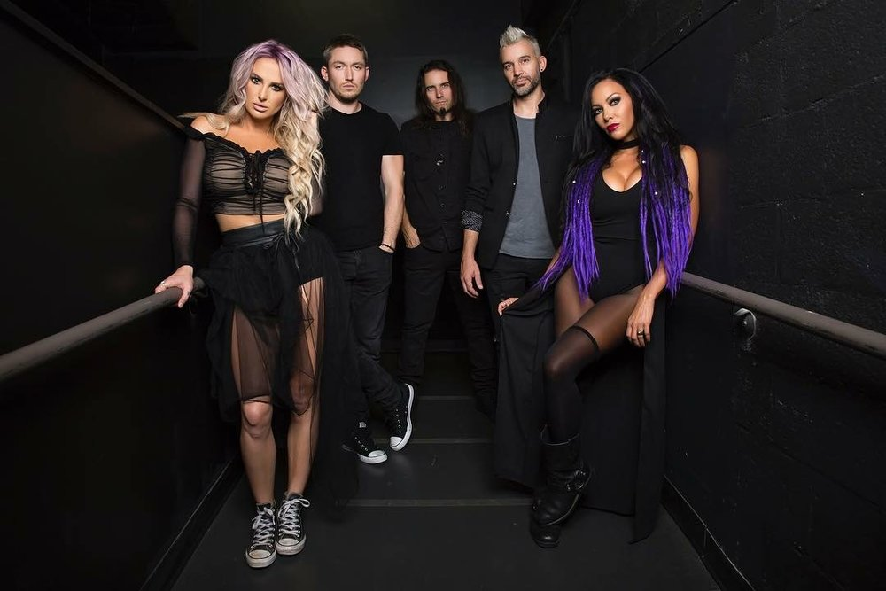 Heidi with her band- Butcher Babies