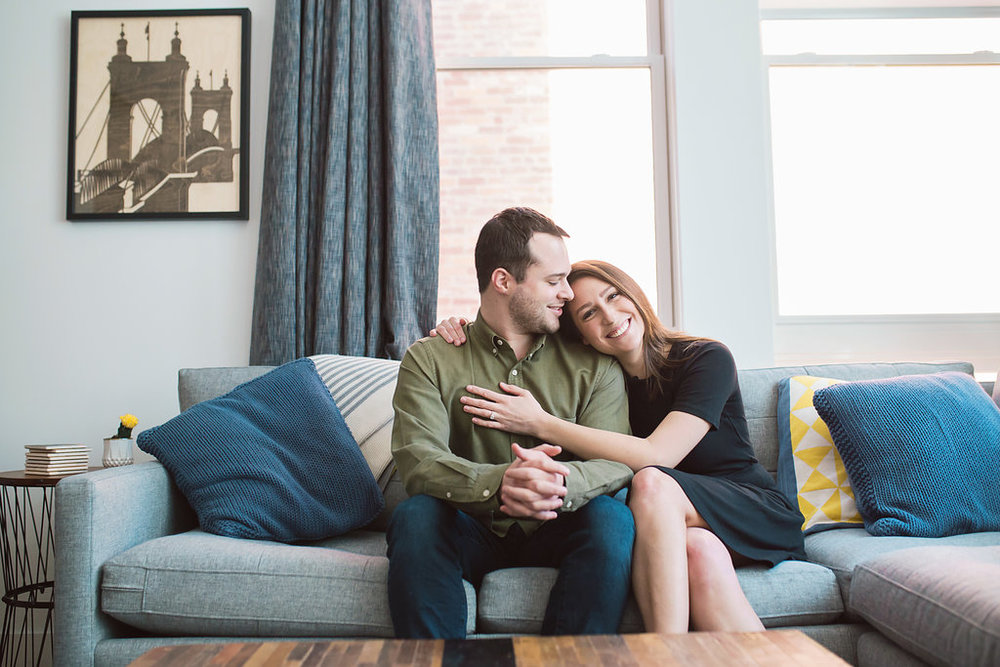 cincinnati at home engagement session