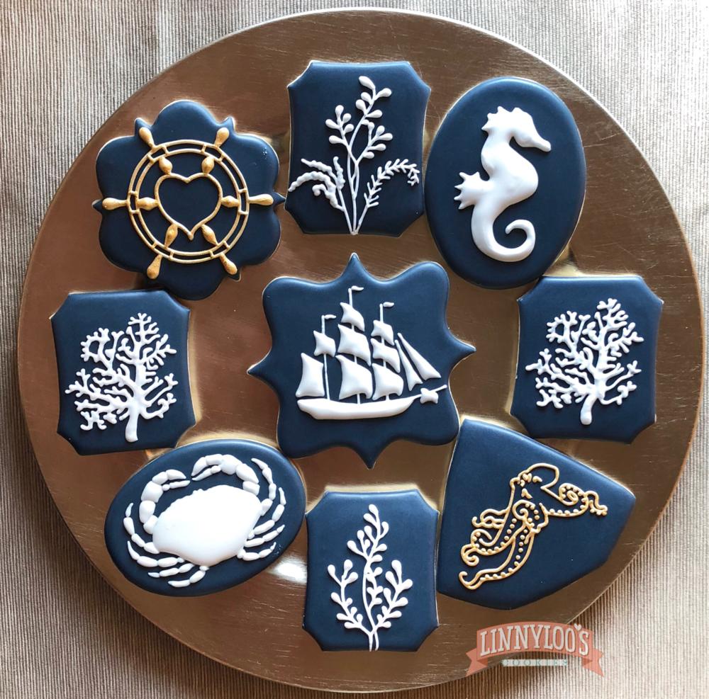 personal cookie decorations, dayton, ohio, Linnyloo's Cookies sailing cookies