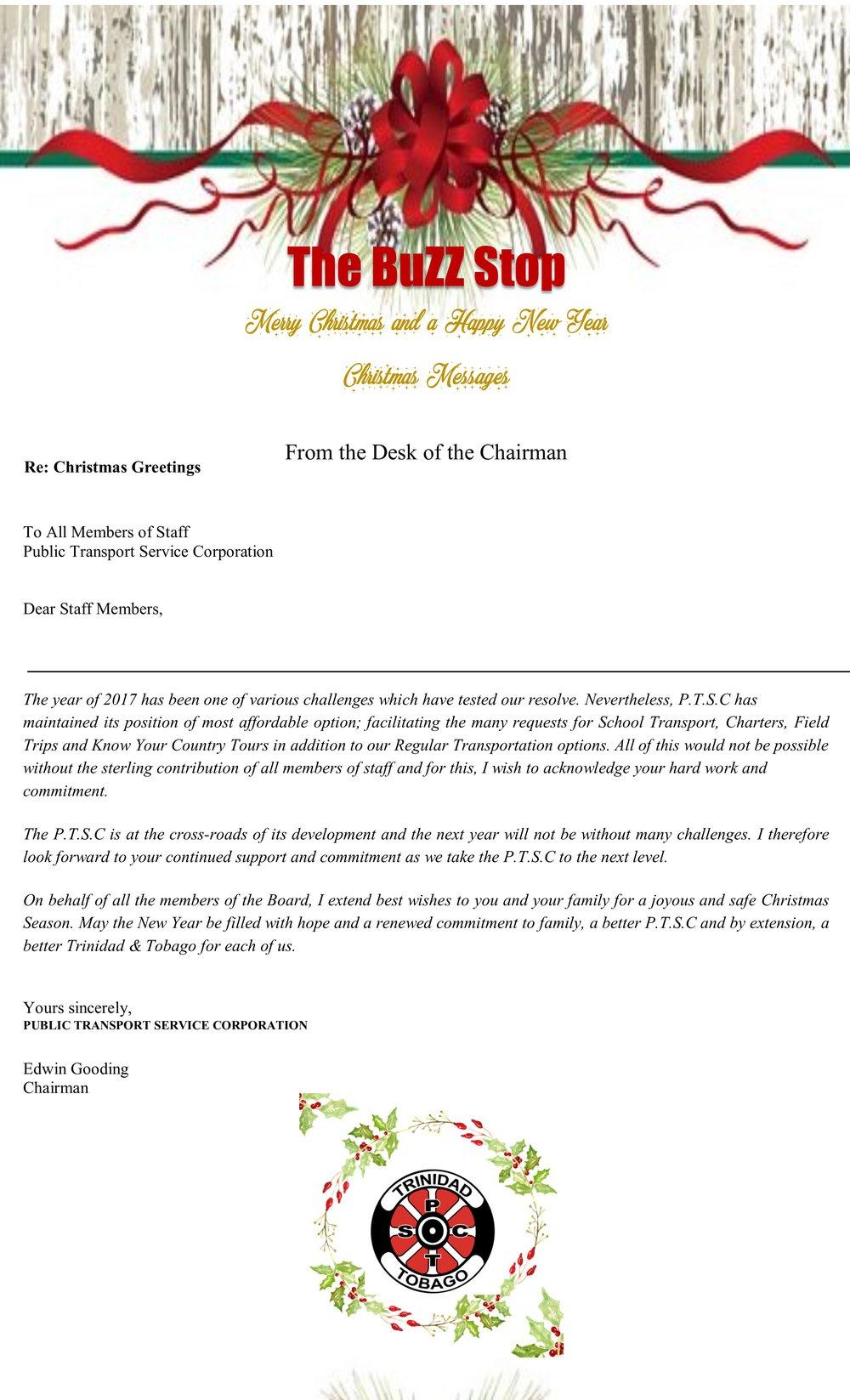 Buzz Stop Special Christmas Edition Public Transport Service