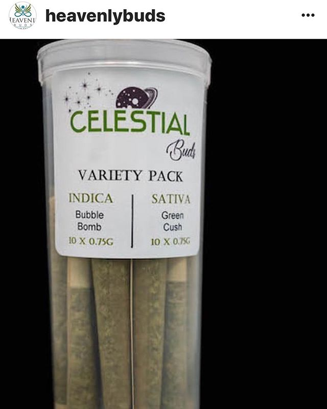 It is a very Heavenly Wednesday @freedom_markets Check out these new variety packs from @heavenlybuds #Celestial #LegalizeIt #Legalize #Dank #Cannabis #Joints #420 #710 #SWED #21+ #MMJ #Legit