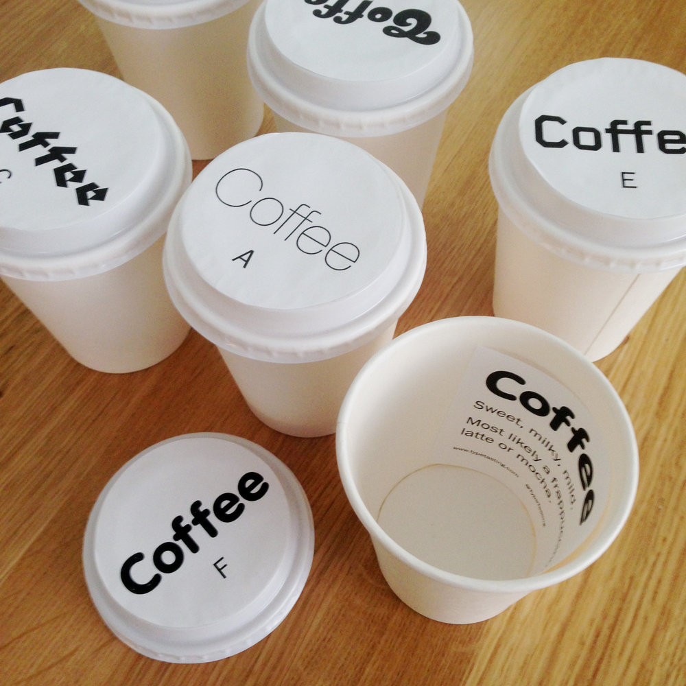 Typographic coffee predictor