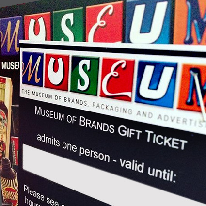 Museum of Brands gift ticket