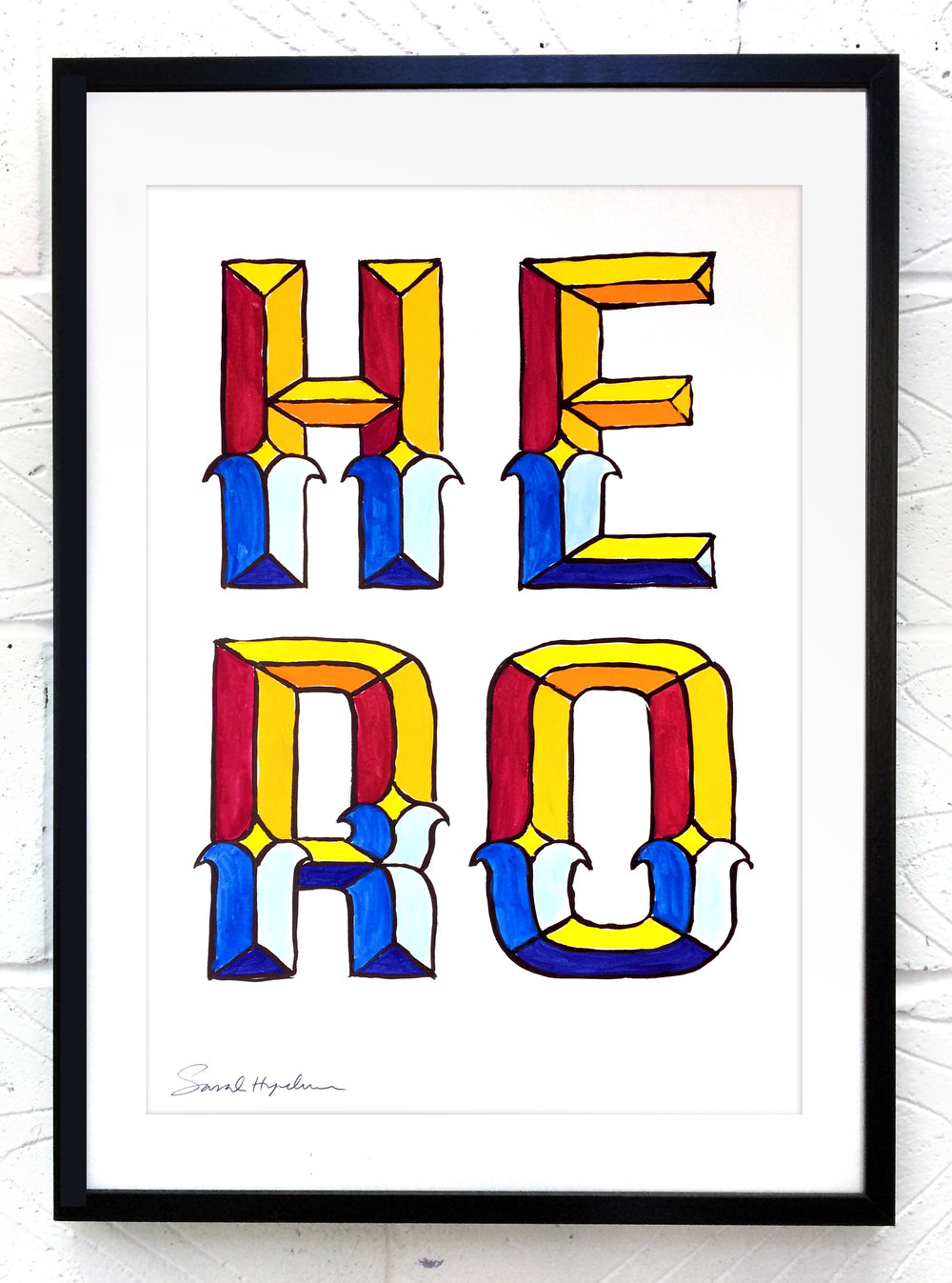 Hero  painting by Sarah Hyndman Ink and gouache, £120  Dimensions 420 x 590mm, unframed  Find out more / buy    ** The poster shop will be closed from 11th to 18th January, last orders by midnight GMT on Thursday 10th January **