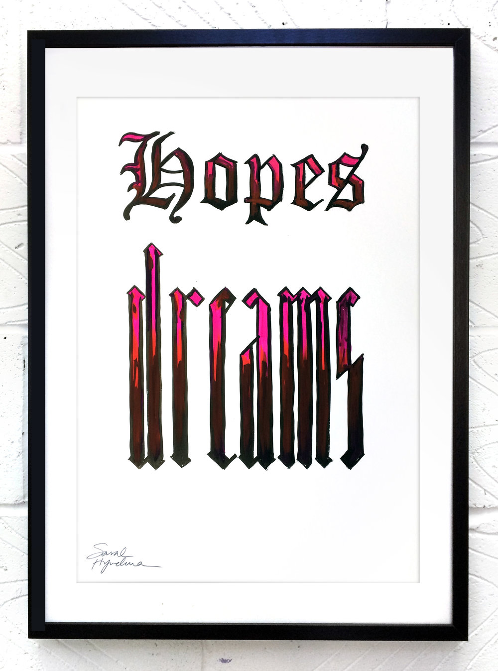 Hopes Dreams  painting by Sarah Hyndman Ink and gouache, £120  Dimensions 420 x 590mm, unframed  Find out more / buy    ** The poster shop will be closed from 11th to 18th January, last orders by midnight GMT on Thursday 10th January **