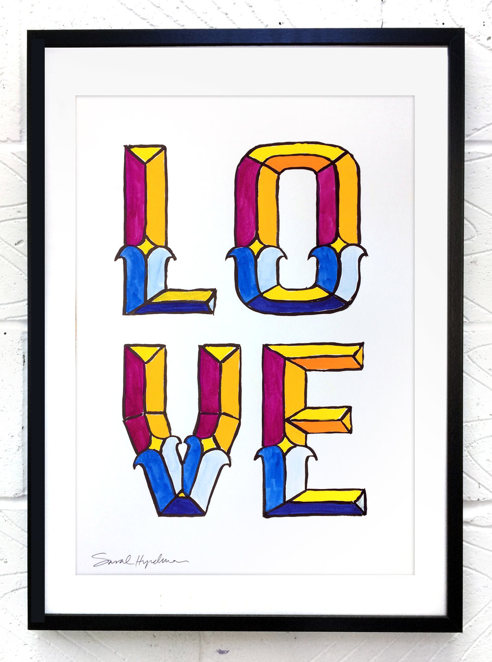 Love  painting by Sarah Hyndman Ink and gouache, £120  Dimensions 420 x 590mm, unframed  Find out more / buy    ** The poster shop will be closed from 11th to 18th January, last orders by midnight GMT on Thursday 10th January **