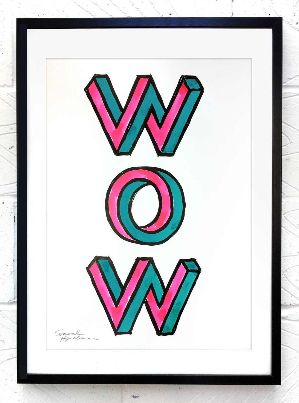 Wow  painting by Sarah Hyndman Ink and gouache, £120  Dimensions 420 x 590mm, unframed  Find out more / buy    ** The poster shop will be closed from 11th to 18th January, last orders by midnight GMT on Thursday 10th January **