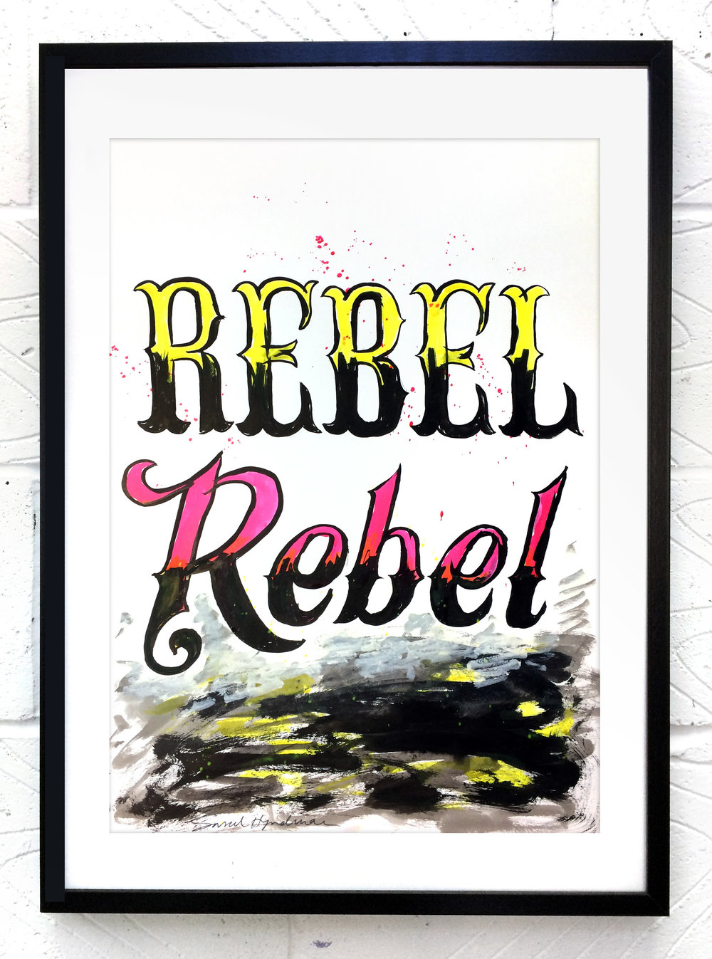 Rebel Rebel  painting by Sarah Hyndman Ink and gouache, £120  Dimensions 420 x 590mm, unframed  Find out more / buy    ** The poster shop will be closed from 11th to 18th January, last orders by midnight GMT on Thursday 10th January **