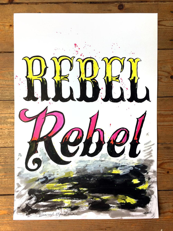 Rebel Rebel - painting by Sarah Hyndman