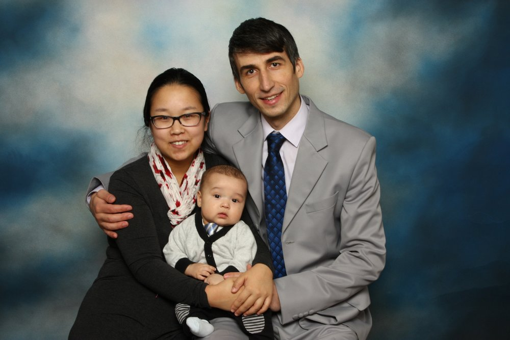 Komfi Baby Family - Komfi Baby co-founders Angie and Grigore Decev with their son.