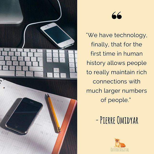 Our thoughts exactly. 👌 What a time to be alive! #SocialMedia #Quote #Technology #Communication #Connect