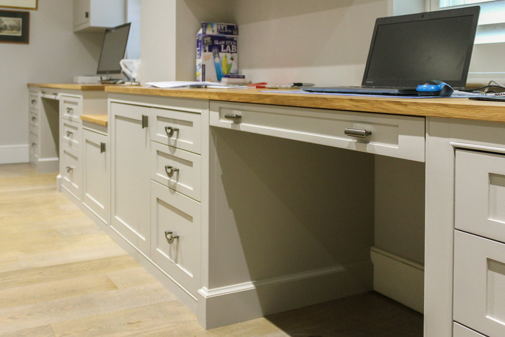 Traditional Home study with Solid Oak worktop