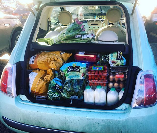 Buying the weekly shop is like a game of Tetris with a Fiat 500 - Will it fit? 🚙 #timefortea #wanstead #e11 #tetris #localbusiness #choresmadefun