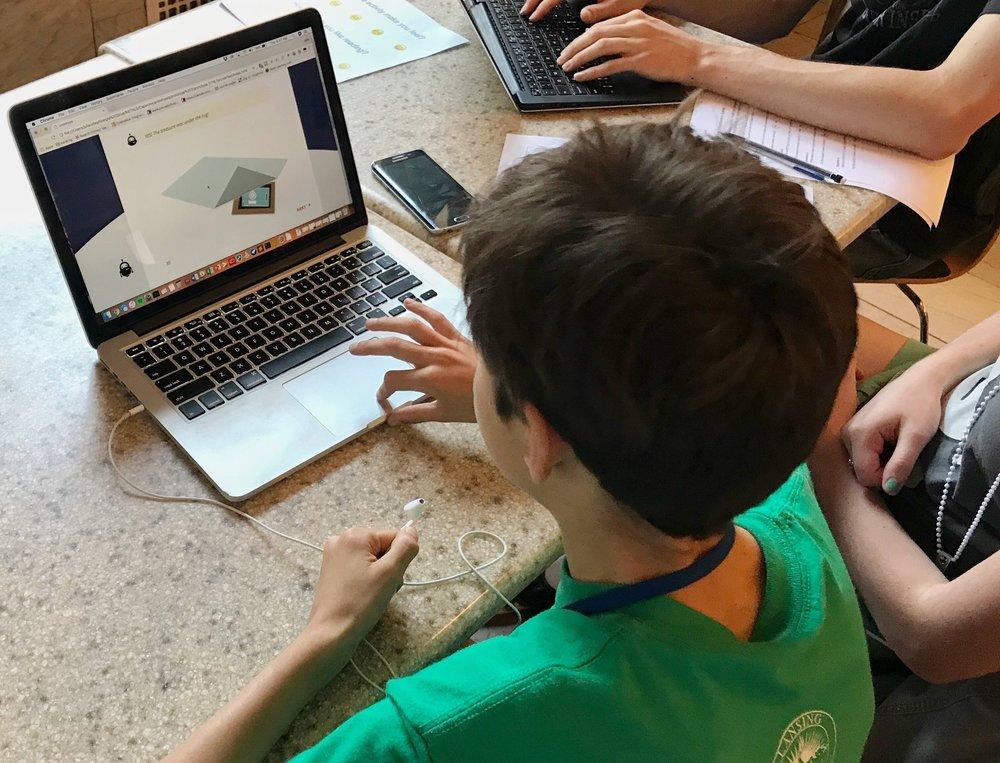 Student testing Endeavor.jpg