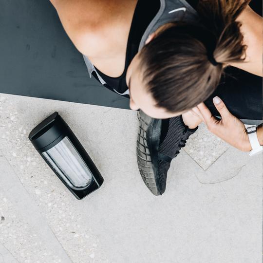 d58ca02f5e09 MUMUUU - MOUS Fitness Bottle & Supplement Shaker (Black)