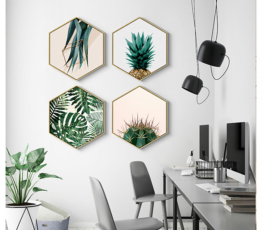 Hexagon Canvas Wall Art