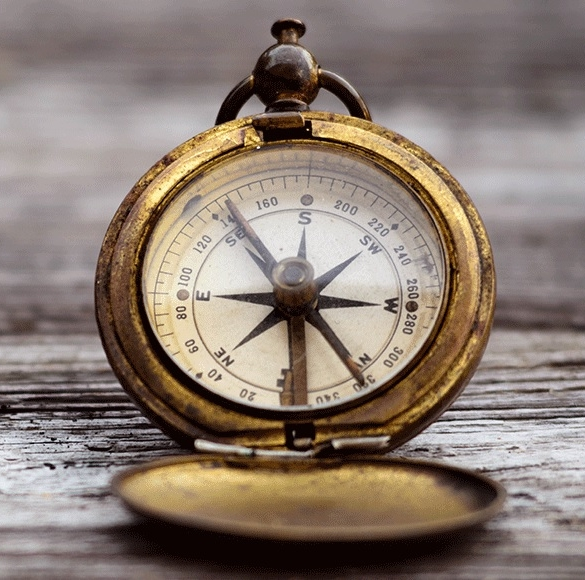 FINDING DIRECTION - REQUIRES A MAP, A COMPASS, AND THE COURAGE TO WALK THE TERRITORY