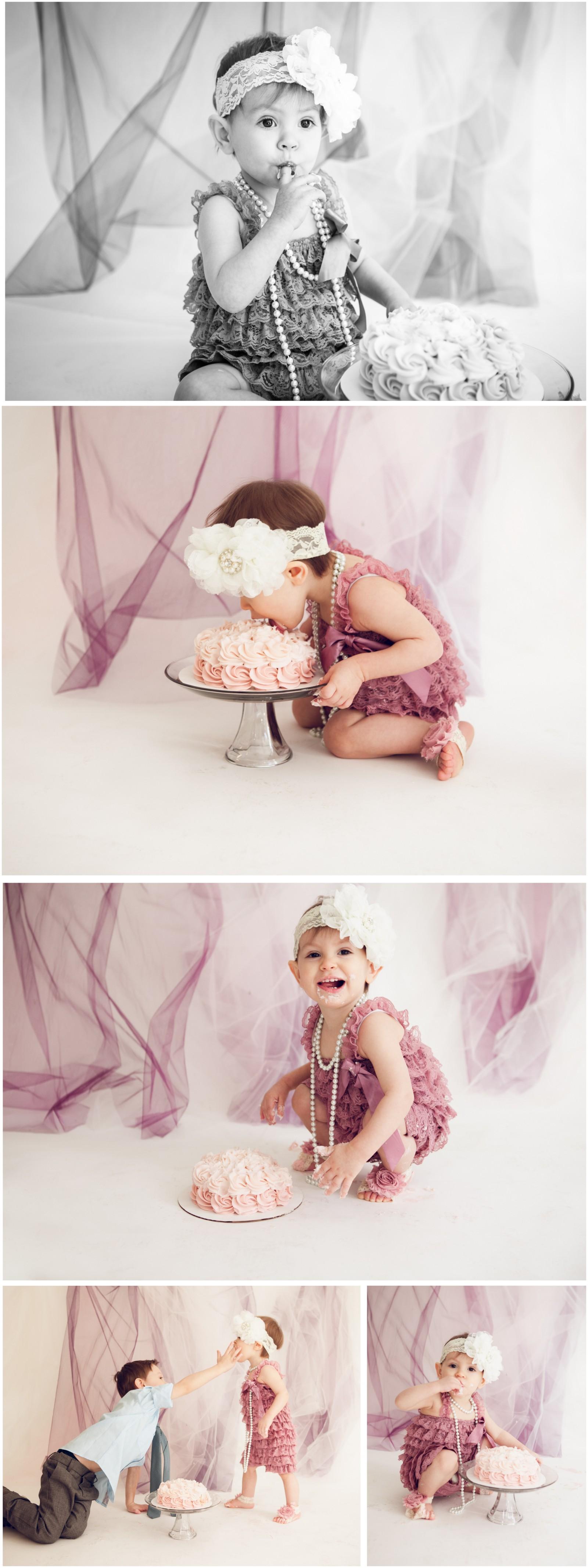 Adelina 4 - Cake Smash Lafayette Indiana Photographer