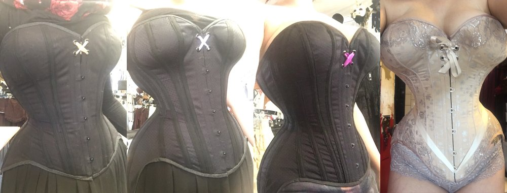 The evolution of a corset pattern.