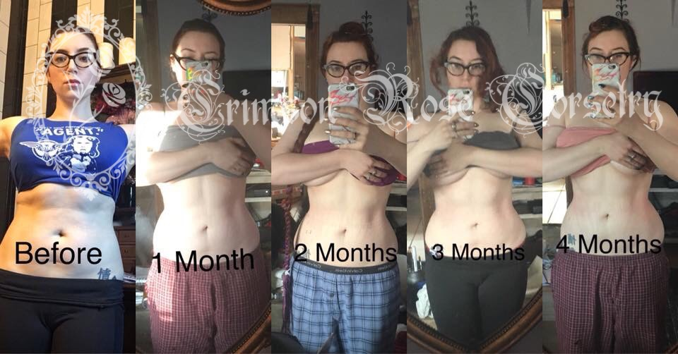 This shows my month to month progress, and you can see that first month was the most immediate change!