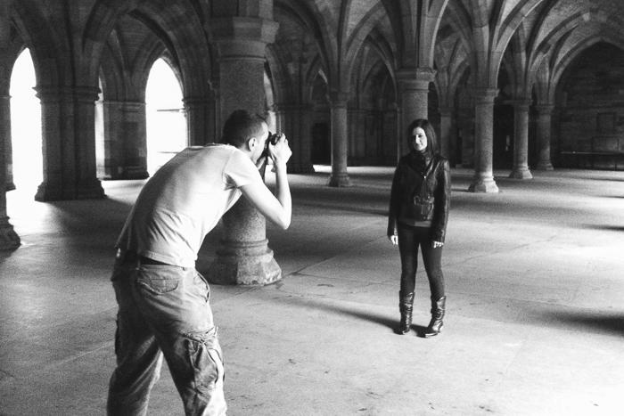 Emma Jane shoot, Glasgow University