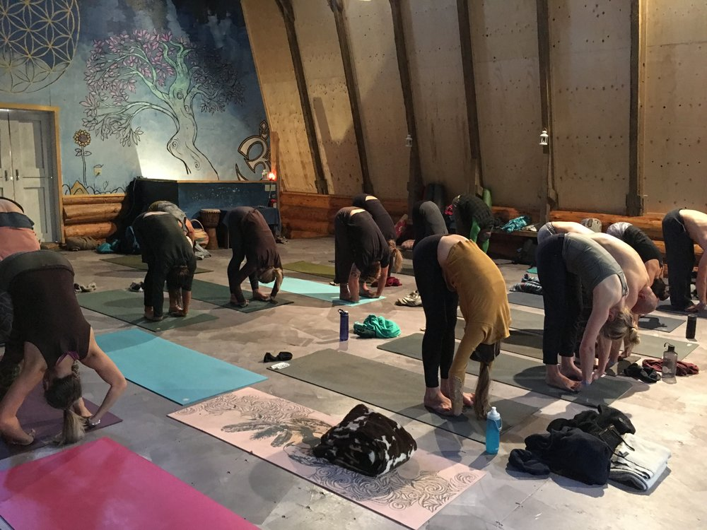 This Was Taken During A Class I Taught At The Sheep Creek Yoga Collective Solstice Gathering