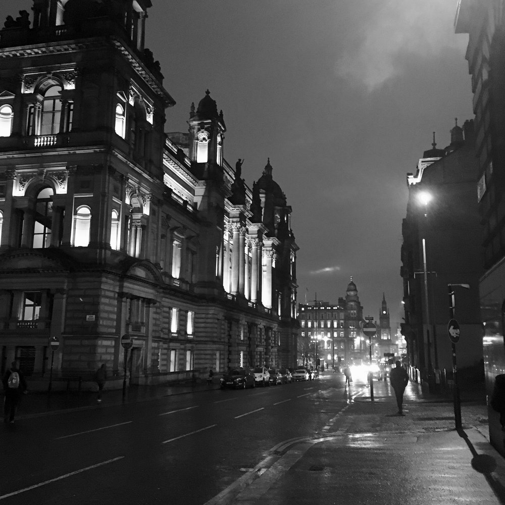 Glasgow being beautiful in the rain.