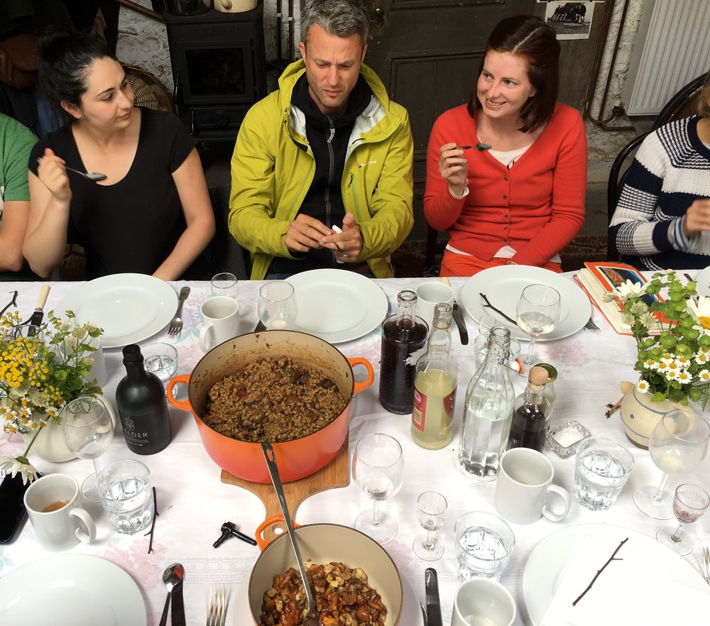 Eating together is a really important part of the workshops I run. It's over simple, good food (which we sometimes make together), that the best part of the conversation and learning often happens.