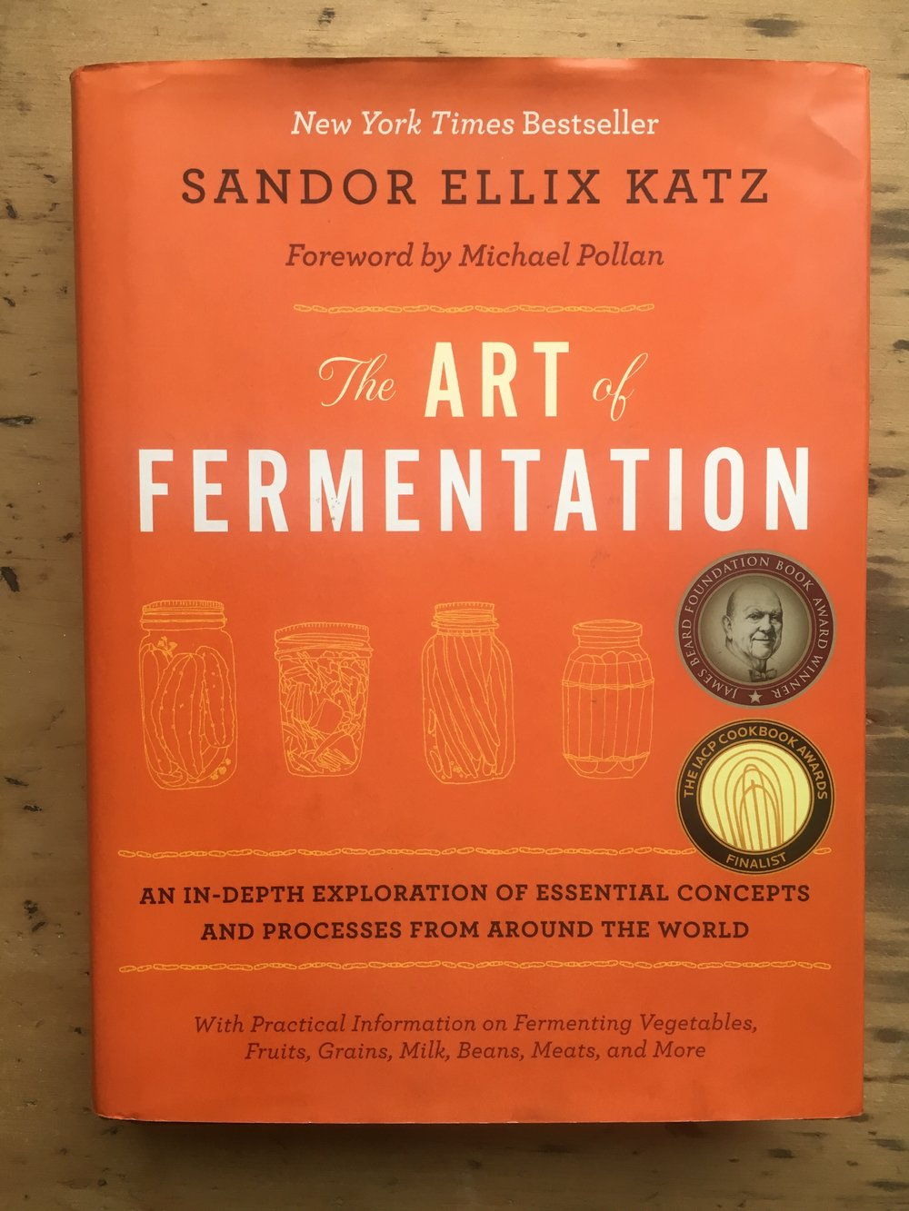 Art of Fermentation - Sandor Katz - a self-proclaimed fermentation revivalist and the undisputed grand-daddy of fermentation. This is a wonderful exploration of culture in all its forms & offers the best explanation of why you should ferment your own.