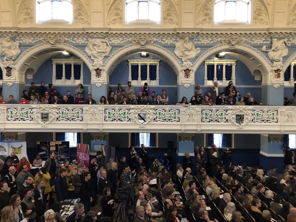 In its 10th year the Oxford Real Farming Conference had 1000 delegates (it had 80 in its first year) and filled Oxford Town Hall.