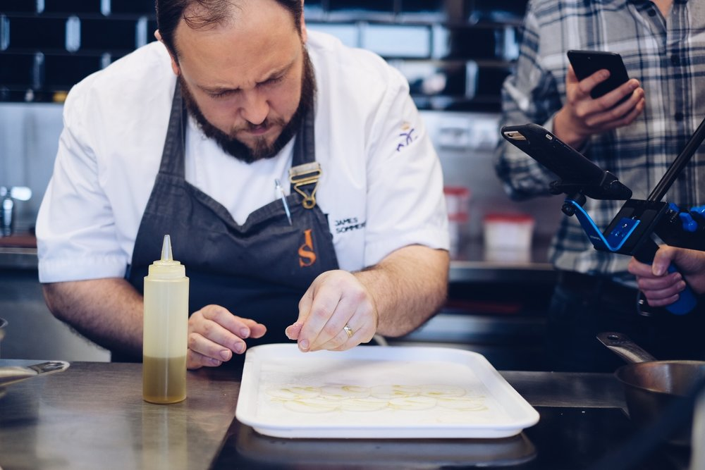 FOOD NETWORK LIVE  - Live streaming as James Sommeron prepares a lamb at his Michelin Star restaurant in Wales. The video had over 166K views...